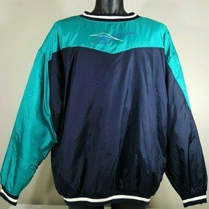Vintage 90s Reebok Colorblock Jacket Sz Large